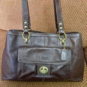 COACH PENELOPE  Brown Pebbled Leather Carry All